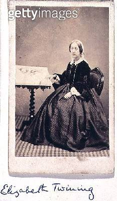 <b>Title</b> : T06544 Portrait photograph of Elizabeth Twining (1805-89) philanthropist and botanist, frontispiece from 'The Chief Natural Orde<br><b>Medium</b> : <br><b>Location</b> : Natural History Museum, London, UK<br> - gettyimageskorea