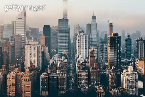 Manhattan skyline from above - gettyimageskorea