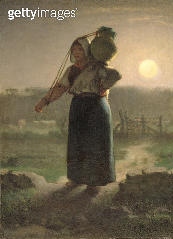 <b>Title</b> : A Milkmaid, c.1853 (oil on canvas)<br><b>Medium</b> : oil on canvas<br><b>Location</b> : The Barber Institute of Fine Arts, University of Birmingham<br> - gettyimageskorea