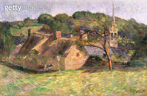 <b>Title</b> : Landscape at Pont-Aven, 1888 (oil on canvas)<br><b>Medium</b> : oil on canvas<br><b>Location</b> : The Barber Institute of Fine Arts, University of Birmingham<br> - gettyimageskorea
