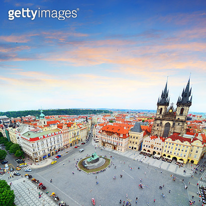 Skyline of Prague - gettyimageskorea
