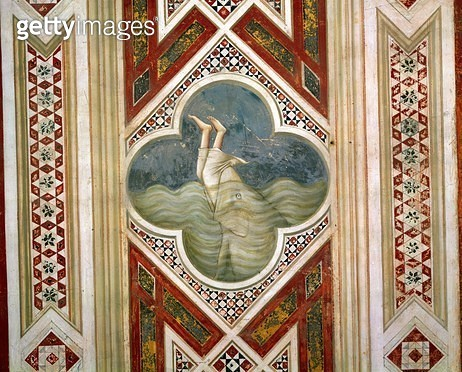 <b>Title</b> : Jonah and the Whale, c.1305 (fresco)<br><b>Medium</b> : <br><b>Location</b> : Scrovegni (Arena) Chapel, Padua, Italy<br> - gettyimageskorea