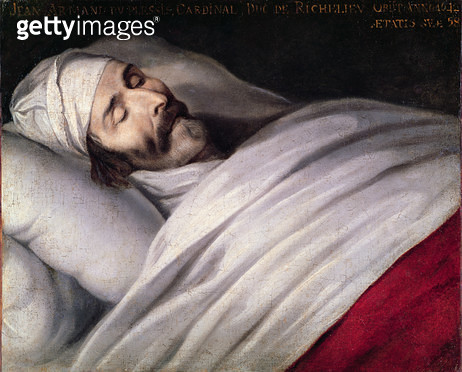 <b>Title</b> : Cardinal Richelieu (1585-1642) on his Deathbed (oil on canvas)<br><b>Medium</b> : <br><b>Location</b> : Institut de France, Paris, France<br> - gettyimageskorea