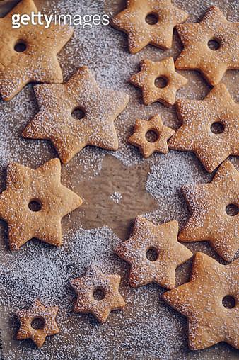 Star Shaped Christmas Cookies - gettyimageskorea