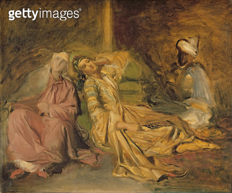 <b>Title</b> : Study for the Interior of a Harem (oil on canvas)<br><b>Medium</b> : oil on canvas<br><b>Location</b> : Louvre, Paris, France<br> - gettyimageskorea