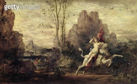 <b>Title</b> : The Rape of Europa, c.1869 (oil on panel)<br><b>Medium</b> : oil on panel<br><b>Location</b> : Musee d'Orsay, Paris, France<br> - gettyimageskorea