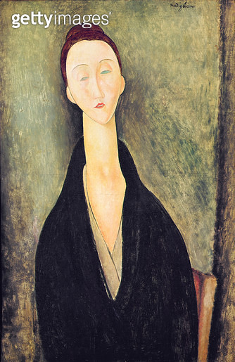 <b>Title</b> : Madame Hanka Zborowska, 1918 (oil on canvas)<br><b>Medium</b> : <br><b>Location</b> : Museu de Arte, Sao Paulo, Brazil<br> - gettyimageskorea
