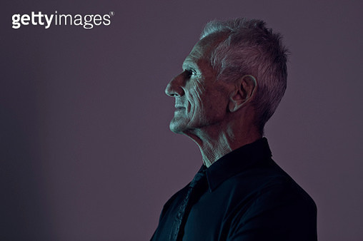 Handsome senior man photographed on studio - gettyimageskorea