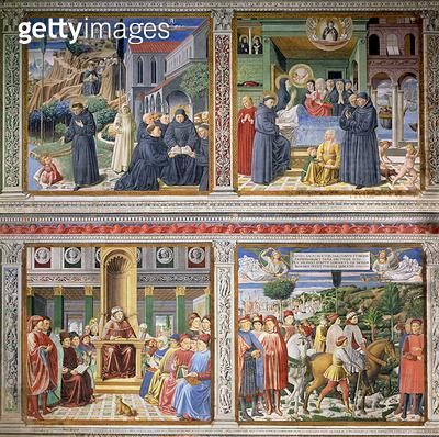 <b>Title</b> : Episodes from the Life of St. Augustine, 1463-65 (fresco) (see 192535, 192549, 192550, 192551, 192552)Additional Infocommissione<br><b>Medium</b> : fresco<br><b>Location</b> : Sant' Agostino, San Gimignano, Italy<br> - gettyimageskorea