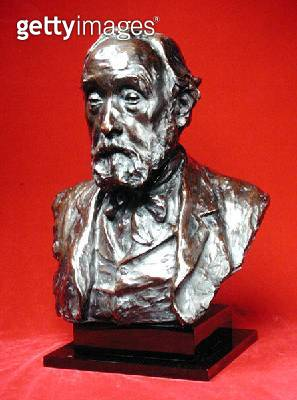 <b>Title</b> : Portrait of Edgar Degas (1834-1917) 1907 (bronze with dark brown patina)<br><b>Medium</b> : bronze with dark brown patina<br><b>Location</b> : Private Collection<br> - gettyimageskorea