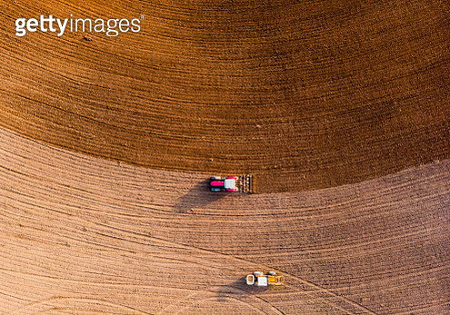 Rural occupation activities taken from drone point of view. - gettyimageskorea