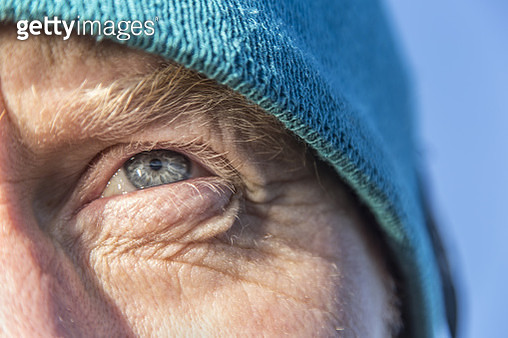 Close up of a man´s eye outdoors - gettyimageskorea