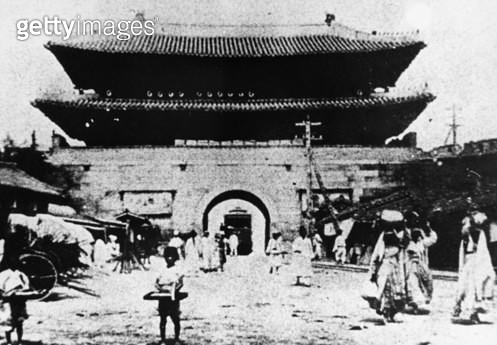 KOREA: SEOUL: GATE. /nNamdaemun Gate in Seoul, Korea, c1900. - gettyimageskorea