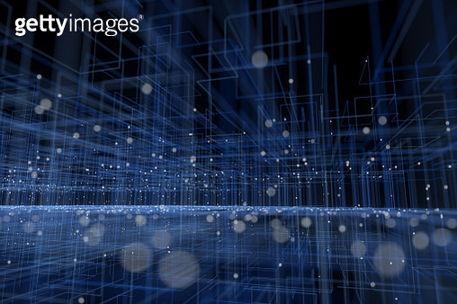 Particle three-dimensional space - gettyimageskorea
