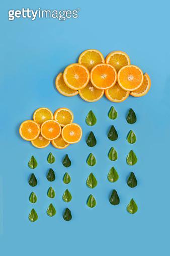 Orange juice conceptual still life. - gettyimageskorea