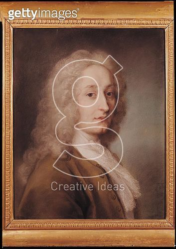 <b>Title</b> : Portrait of Antoine Watteau (1684-1721) (pastel on paper)<br><b>Medium</b> : pastel on paper<br><b>Location</b> : Museo Civico, Treviso, Italy<br> - gettyimageskorea