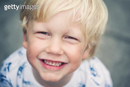Happy smiling little boy - gettyimageskorea