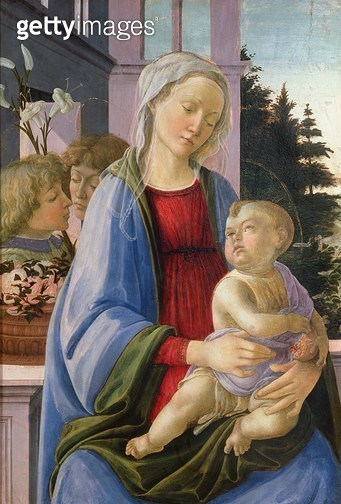 <b>Title</b> : Madonna and Child with Angels (The Madonna of the Pomegranate) (oil on panel)Additional InfoMadonna might have been painted by B<br><b>Medium</b> : oil on panel<br><b>Location</b> : Louvre, Paris, France<br> - gettyimageskorea