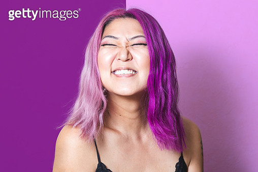 Pink and Purple Portrait - gettyimageskorea