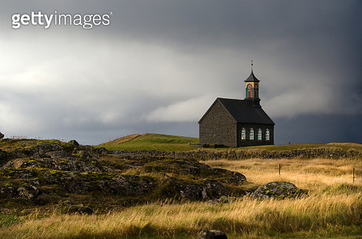 Reykjanes Peninsula Church - gettyimageskorea