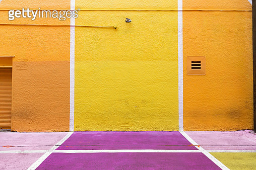 Colored Floor And Wall Of Building - gettyimageskorea