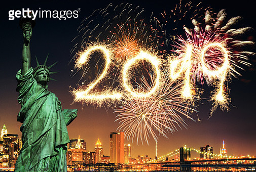 fireworks in new york city for the new year - gettyimageskorea