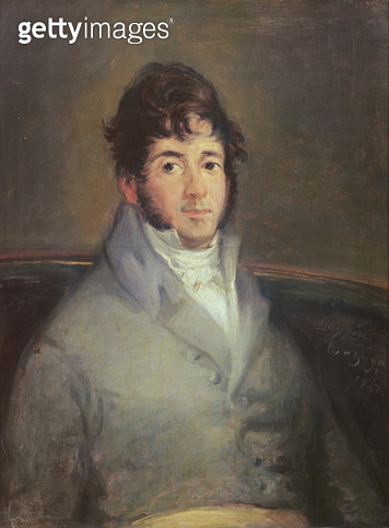 <b>Title</b> : Portrait of Isidoro Maiquez, 1807 (oil on canvas)<br><b>Medium</b> : oil on canvas<br><b>Location</b> : Prado, Madrid, Spain<br> - gettyimageskorea