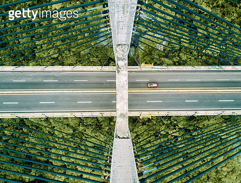 Aerial view of a bridge - gettyimageskorea