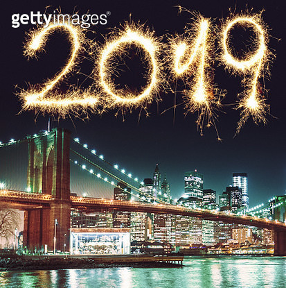new york city skyline for the new year - gettyimageskorea