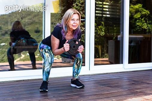 Senior woman exercising - gettyimageskorea