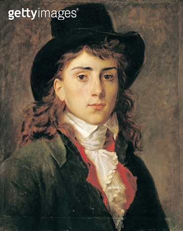 <b>Title</b> : Portrait of Baron Antoine Jean Gros (1771-1835) Aged 20 (oil on canvas)<br><b>Medium</b> : oil on canvas<br><b>Location</b> : Musee des Augustins, Toulouse, France<br> - gettyimageskorea