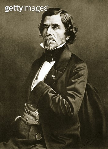 Eugene Delacroix (1798-1863) (sepia photo) - gettyimageskorea