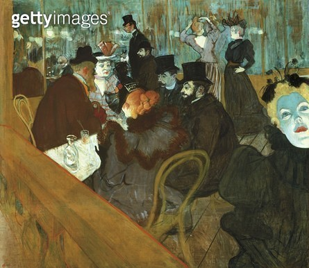 At Moulin Rouge/ 1892-1895/ by Henri de Toulouse Lautrec (1864-1901)/ oil on canvas/ 123x140 cm - gettyimageskorea