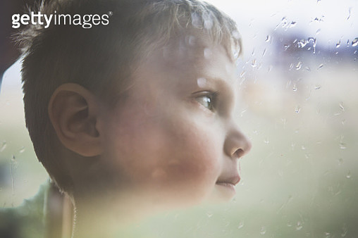Boy Looking Away Double Exposure - gettyimageskorea