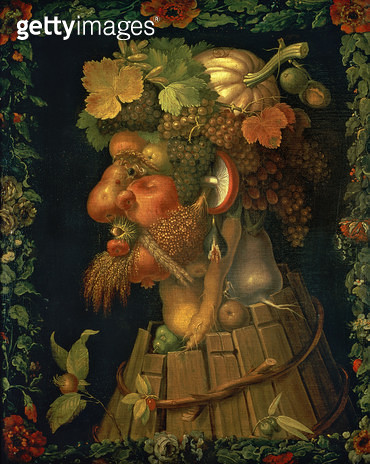 <b>Title</b> : Autumn, from a series depicting the four seasons, commissioned by Emperor Maximilian II (1527-76) 1573 (oil on canvas)<br><b>Medium</b> : oil on canvas<br><b>Location</b> : Louvre, Paris, France<br> - gettyimageskorea