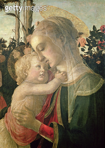 <b>Title</b> : Madonna and Child with St. John the Baptist, detail of the Madonna and Child (oil on panel) (detail from 93886)<br><b>Medium</b> : oil on panel<br><b>Location</b> : Louvre, Paris, France<br> - gettyimageskorea