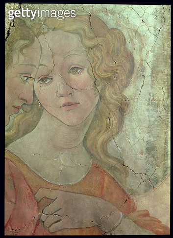 <b>Title</b> : Venus and the Three Graces Offering Gifts to a Young Girl, detail of one of the graces, c.1483 (fresco) (detail from 33760) (see<br><b>Medium</b> : fresco<br><b>Location</b> : Louvre, Paris, France<br> - gettyimageskorea
