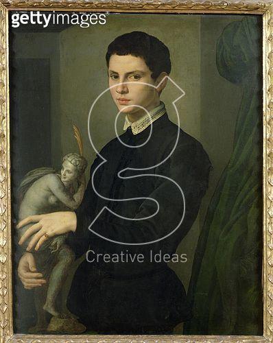<b>Title</b> : Portrait of a Sculptor, possibly Baccio Bandinelli (1493-1560) (oil on panel)<br><b>Medium</b> : oil on panel<br><b>Location</b> : Louvre, Paris, France<br> - gettyimageskorea