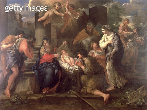 The Adoration of the Shepherds (oil on canvas) - gettyimageskorea