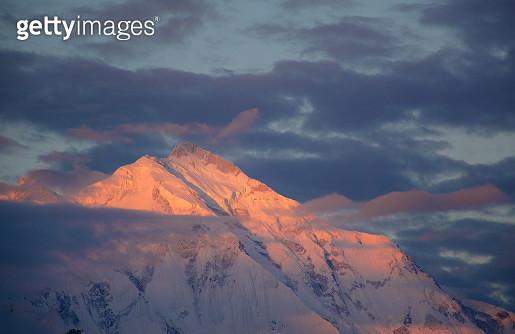 Mountain peak at sunrise - gettyimageskorea