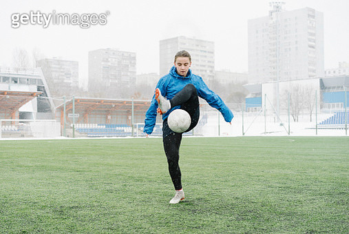 Woman, person , soccer player , athlete, woman, genuine, brave, attractive, strong - gettyimageskorea
