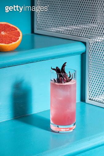 Pink paloma cocktails - gettyimageskorea