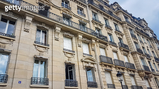 Traditional Exterior view of Paris City Center Apartments France - gettyimageskorea