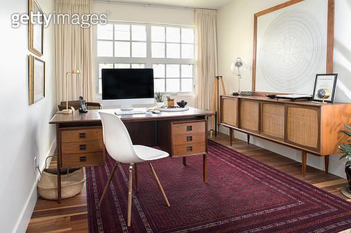 Mid-century modern home office - gettyimageskorea