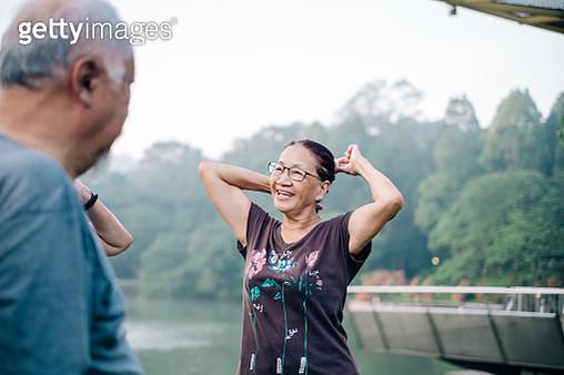 Beautiful Asian Active Senior Women - gettyimageskorea