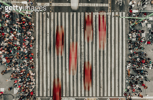 Aerial View of a Crossing in Mexico City - gettyimageskorea
