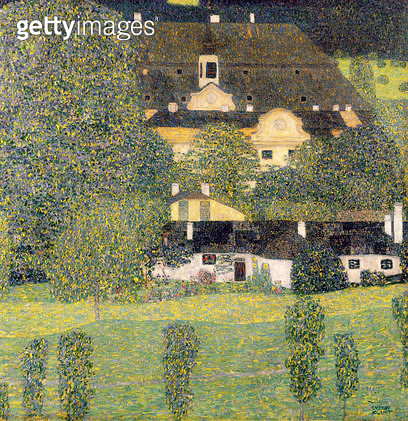 <b>Title</b> : Schloss Kammer am Attersee II, c.1909 (oil on canvas)<br><b>Medium</b> : oil on canvas<br><b>Location</b> : Private Collection<br> - gettyimageskorea