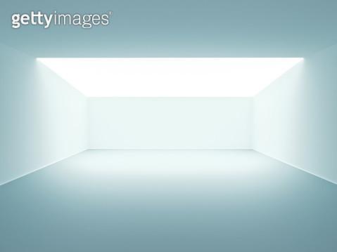 White Futuristic empty room - gettyimageskorea