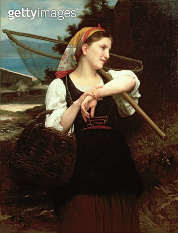 <b>Title</b> : Daughter of Fisherman, 1872 (oil on canvas)<br><b>Medium</b> : oil on canvas<br><b>Location</b> : Tokyo Fuji Art Museum, Tokyo, Japan<br> - gettyimageskorea
