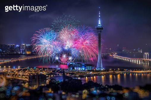 Fireworks Night in Macau. - gettyimageskorea